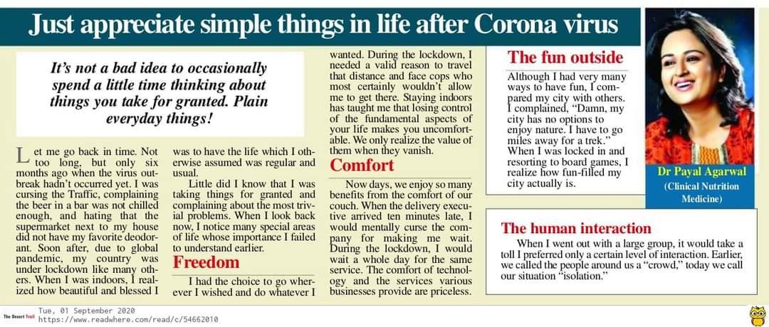41Just Appreciate Simple Things In Life After Coronavirus