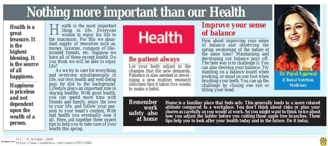 44Nothing More Important Than Our Health