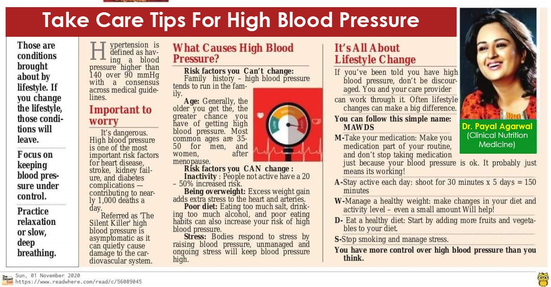 45Take Care Tips For High Blood Pressure