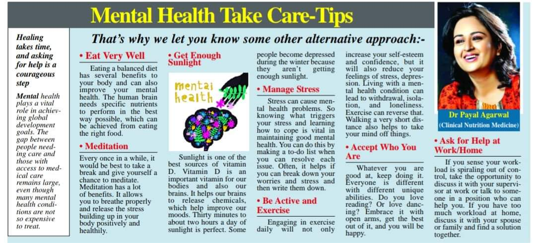 47Mental Health Take Care - Tips