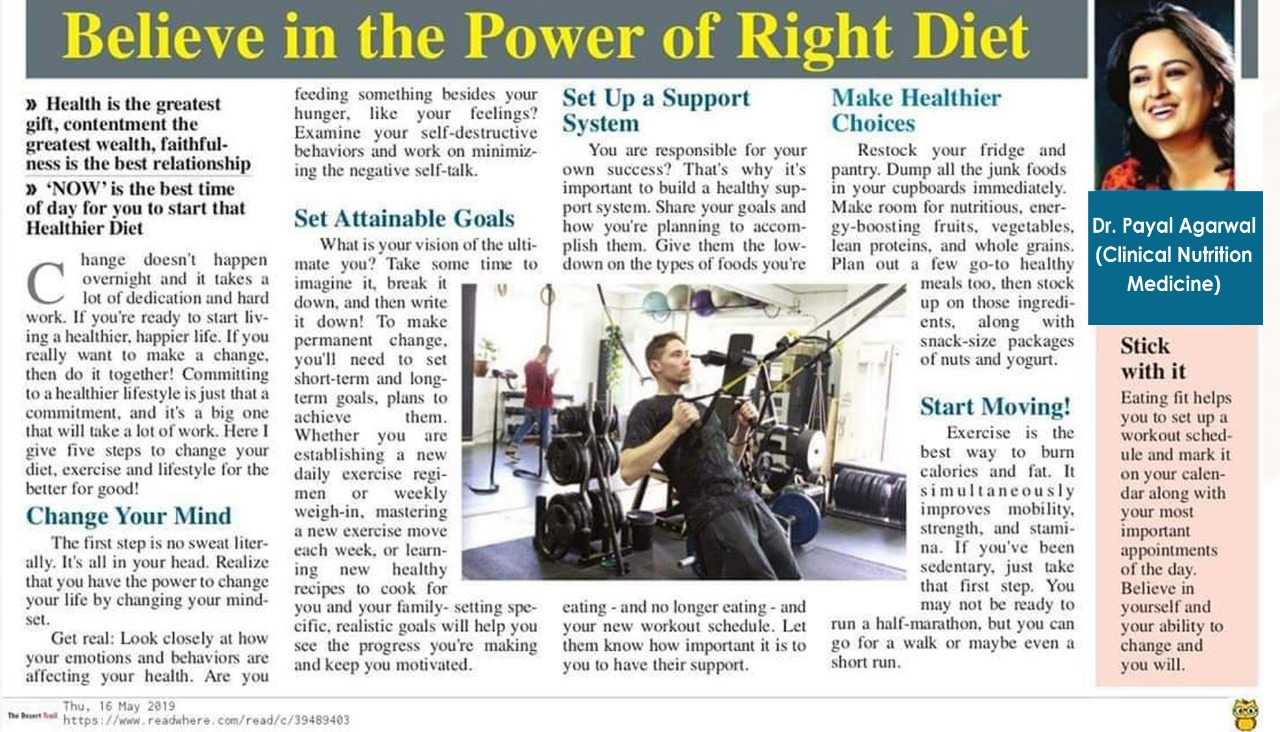 Believe In The Power Of Right Diet