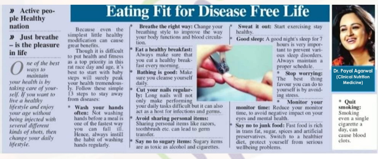 Eating Fit For Disease Free Life