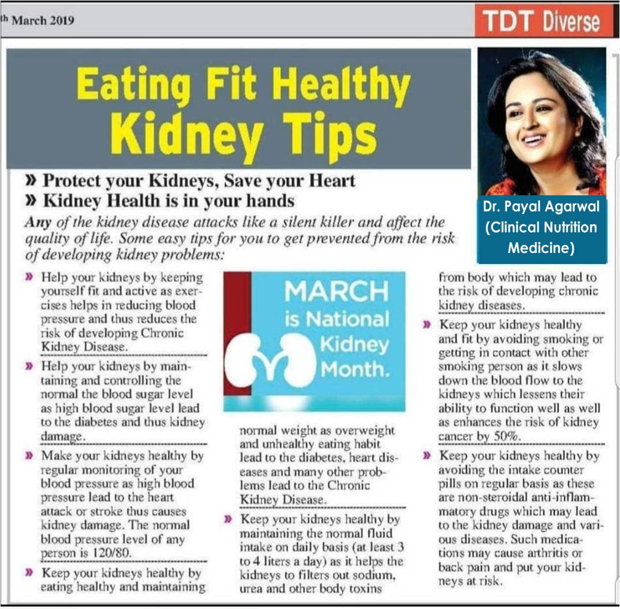 Eating Fit Healthy Kidney