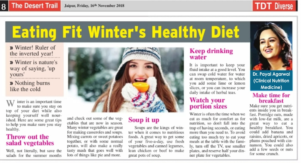 Eating Fit Winter's Healthy Diet