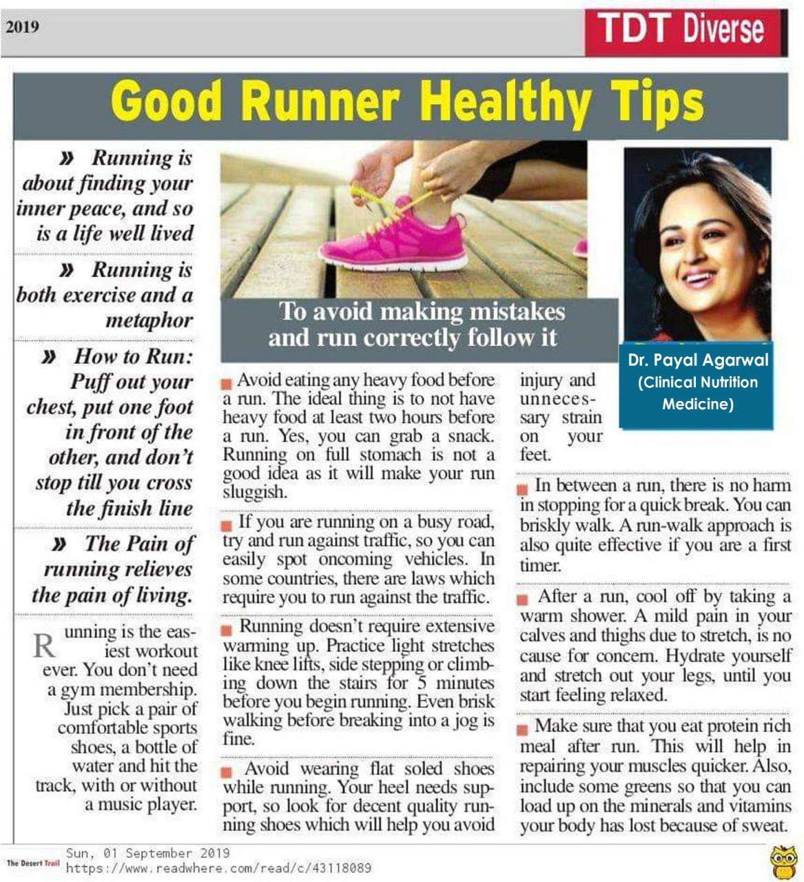 Good Healthy Runner