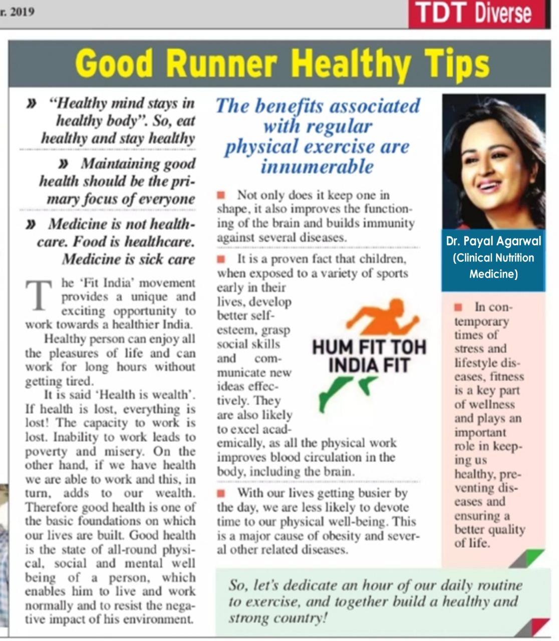 Good Runner Healthy Tips