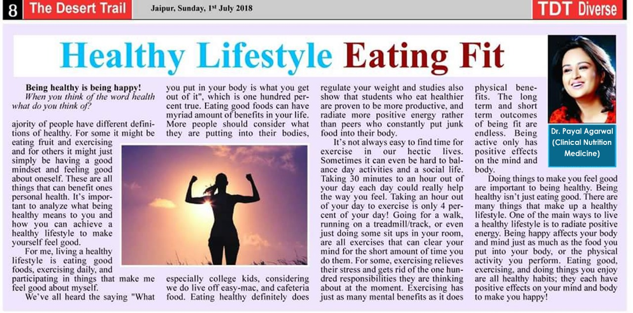 Healthy lifestyle Eating Fit