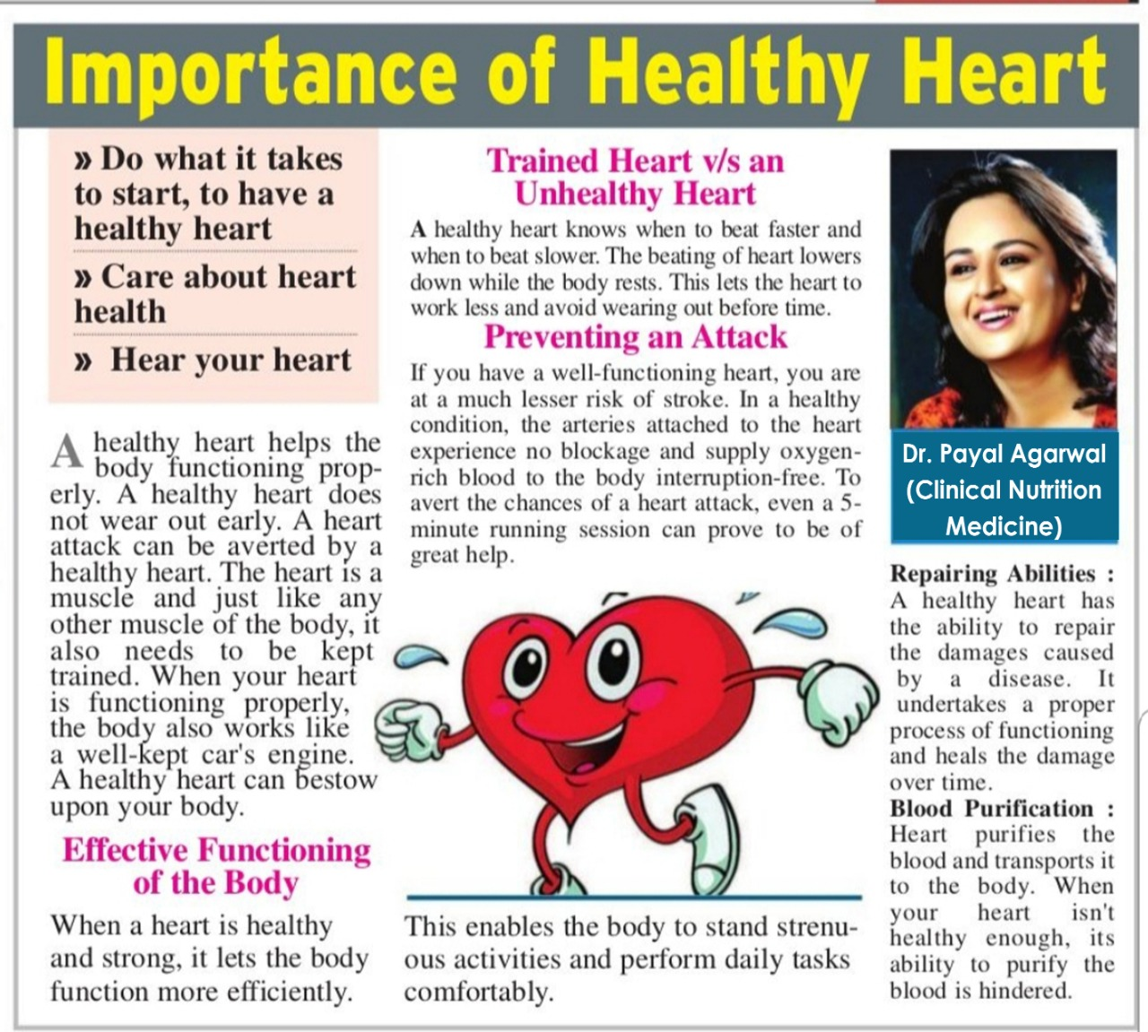 Importance of Healthy Heart