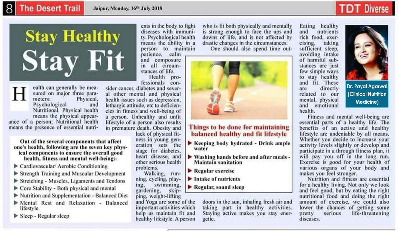 Stay Healthy Stay Fit