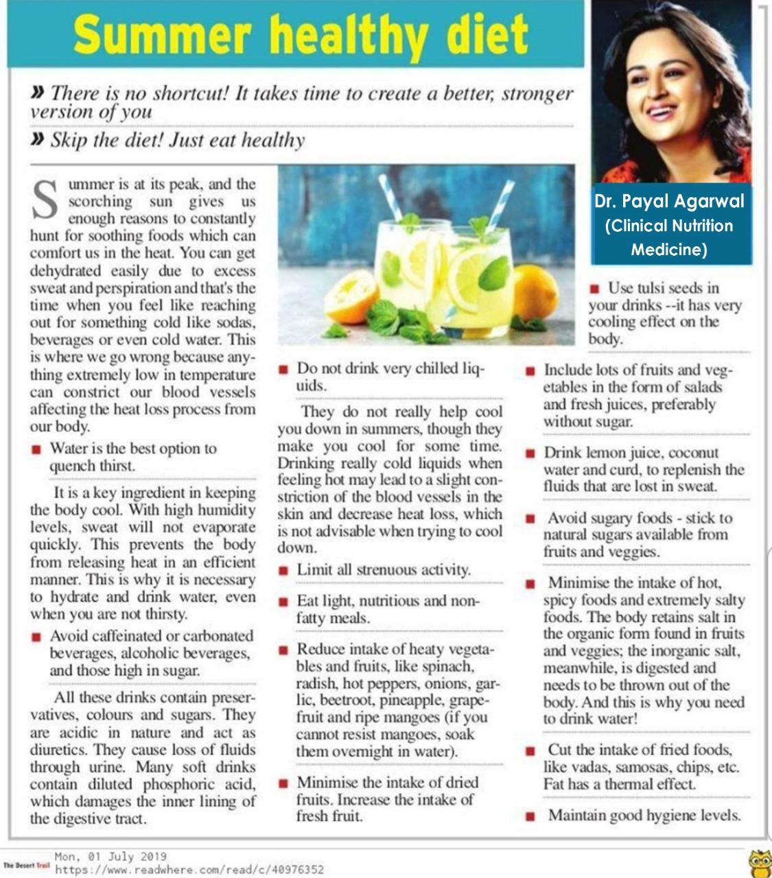 Summer Healthy Diet
