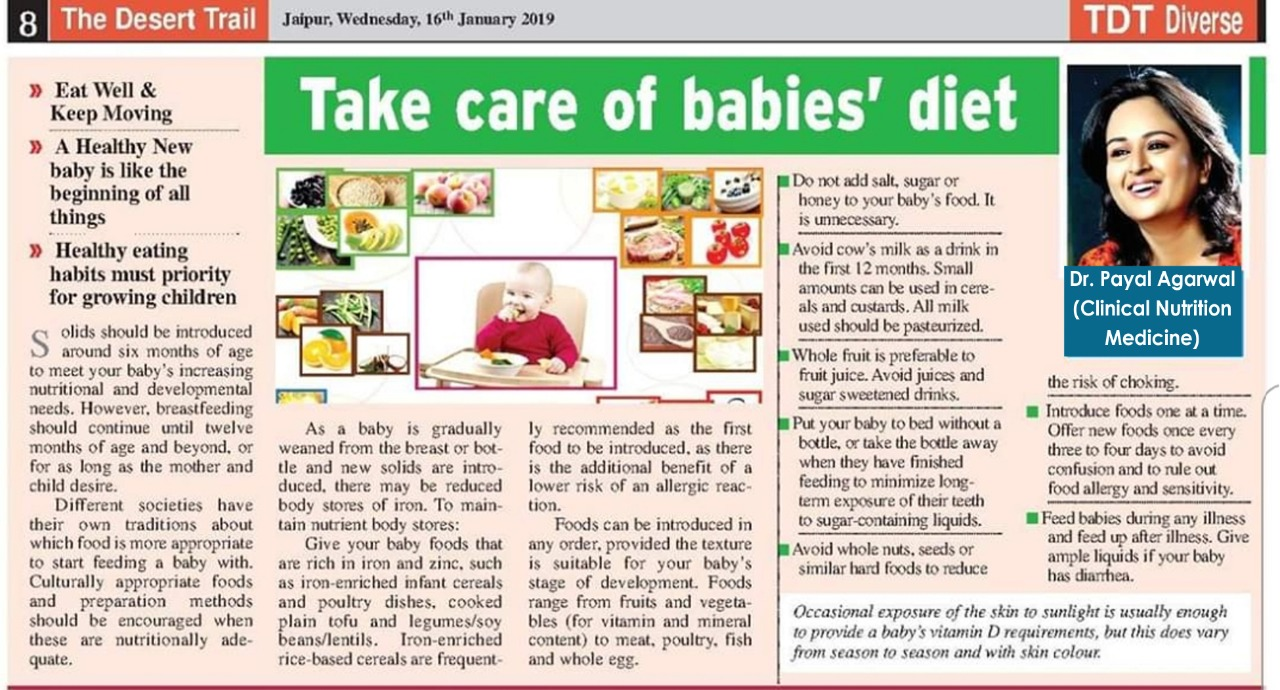 Take Care Of Babies 'Diet