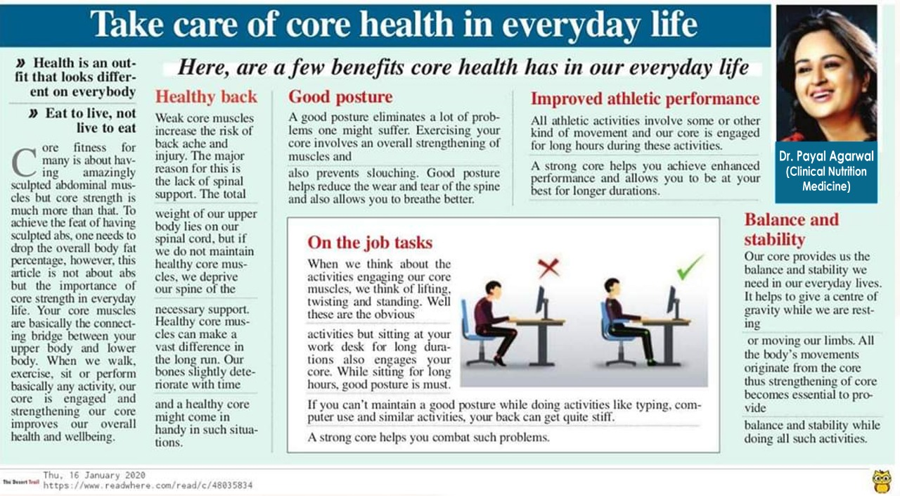 Take Care Of Core Health In Everyday Life