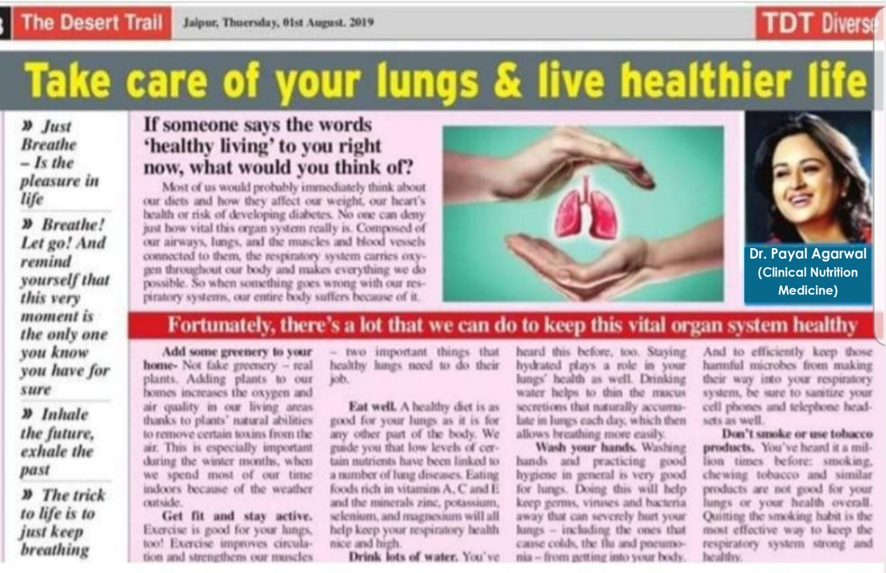 Take Care Of Your lungs & Live Healthier Life
