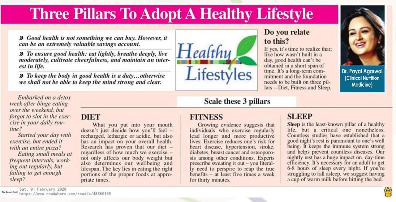 Three Pillars To Adopt A Healthy Lifestyle