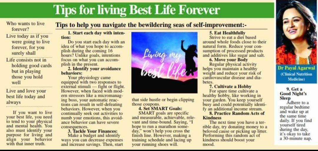 Tips for living best life forever