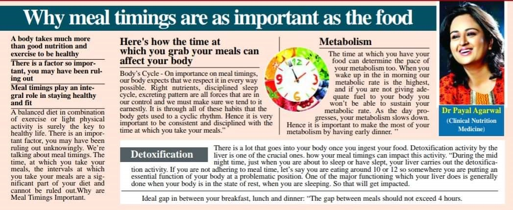 Why meal timing are as important as the food