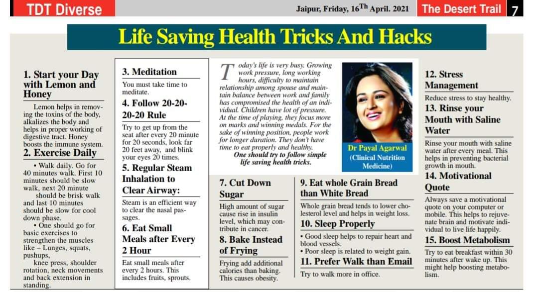 LIFE SAVING HEALTH TRICKS & HACKS