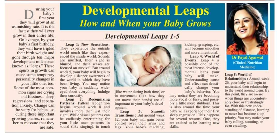 Developmental Leaps - How and When your Baby Grows