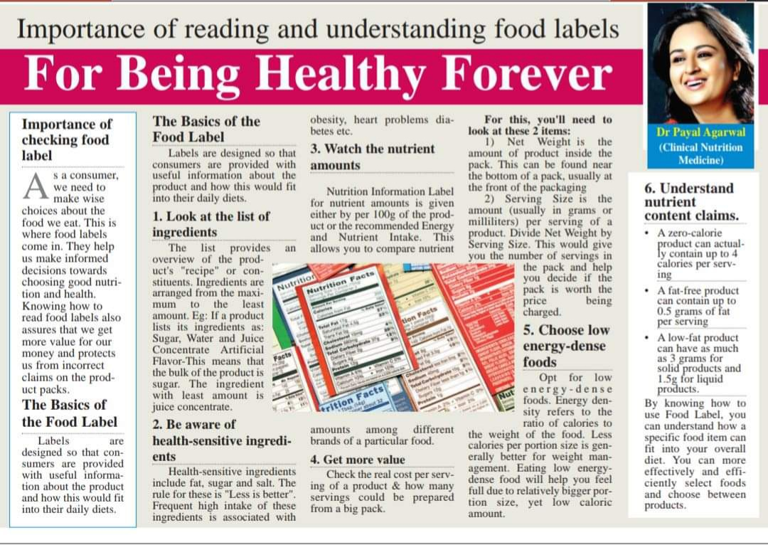 Importance Of Reading And Understanding Food Labels For Being Healthy Forever