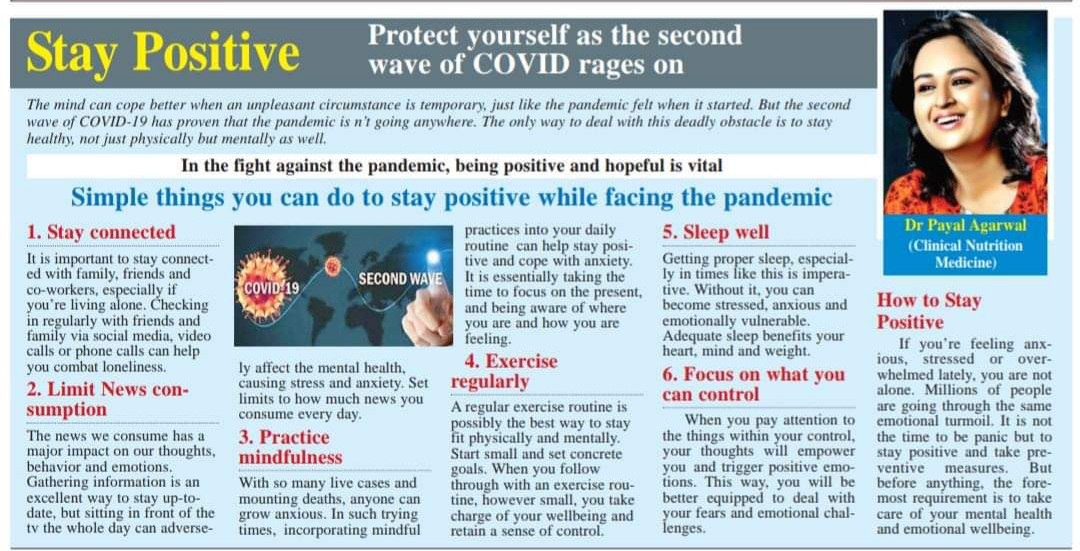 Stay Positive - Protect Yourself As The Second Wave Of Covid Rages on
